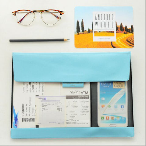 Color & Clear Document Bag