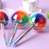 2 Pack Colorful Fluffy Ball Gel Pen