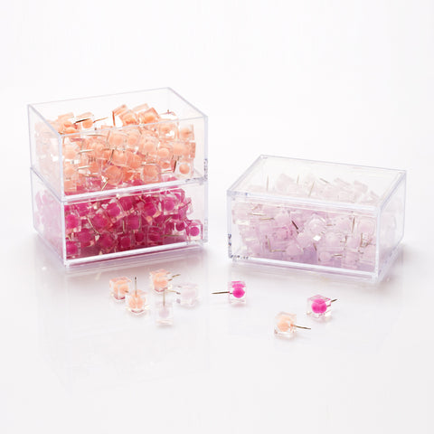 240 Pack Circle in Square Thumbtacks