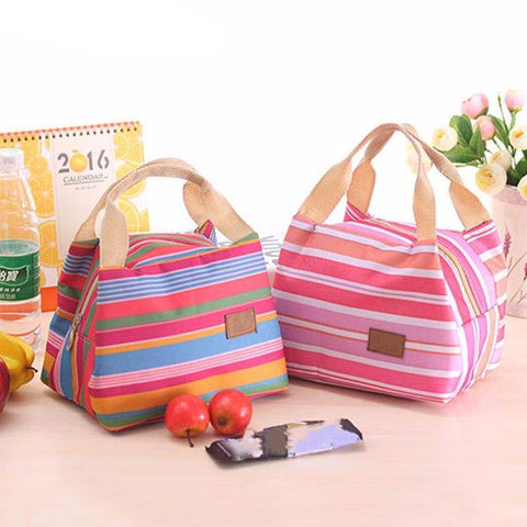 Bright Stripes Lunch Bags
