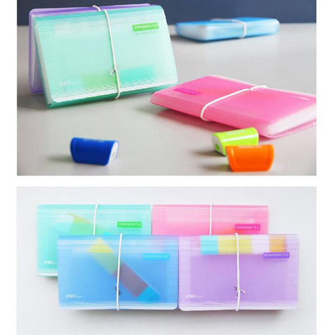 Translucent Color A6 Expanding File (Wallet Size)
