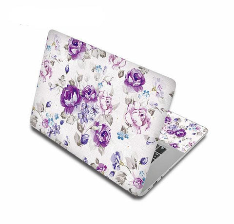 Something Purple Floral Laptop Skin