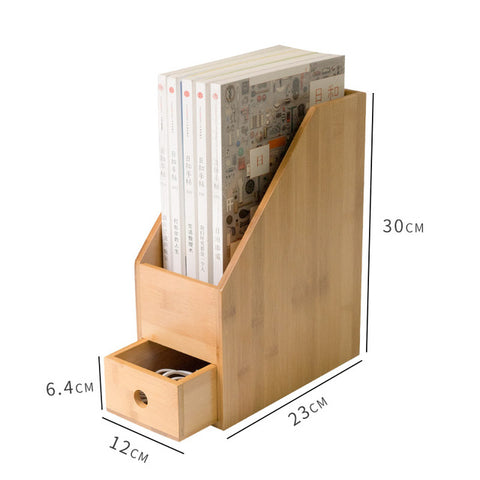 Beautiful Bamboo File Holder with Drawer