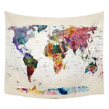Paint Stained Continents World Map