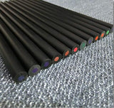 12 Pack Black Wood Colored Pencils