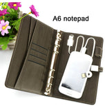 Leather Padfolio with 8 GB Power Bank and USB Flash Drive