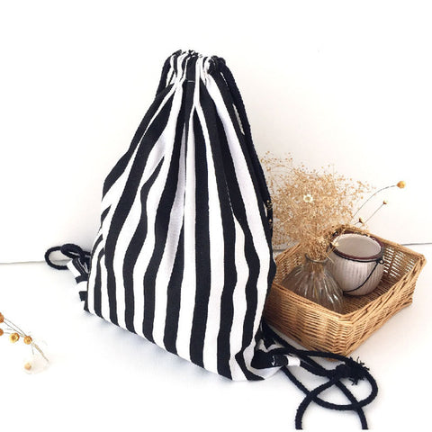 Monochrome Drawstring Bag