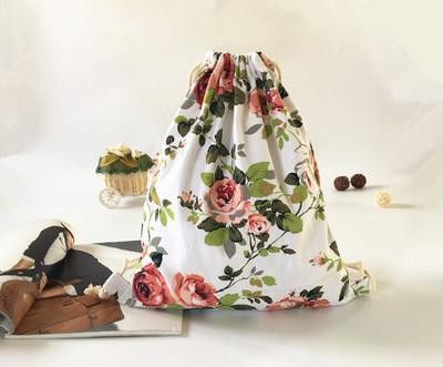 Floral Fashion Drawstring Bag
