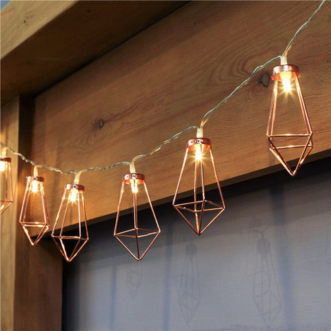 Geometric Water Drop String Lights