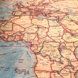 Vintage Kraft Paper World Map