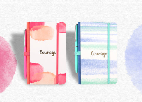 Bleeding Color Courage Mini Notebook