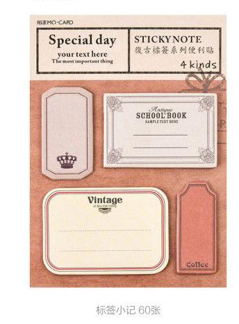Vintage Style Sticky Notes