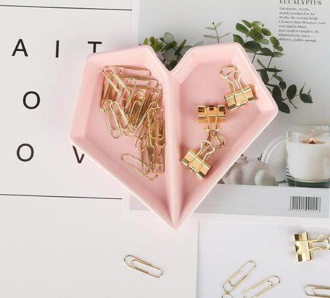 Clip & Clipped Ceramic Heart Tray