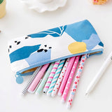 Geometric Pattern Canvas Pencil Case