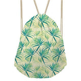 Something Leafy (Leaves Inspired) Drawstring Bags