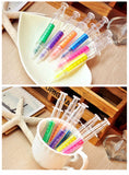 6 Pack Syringe Highlighters