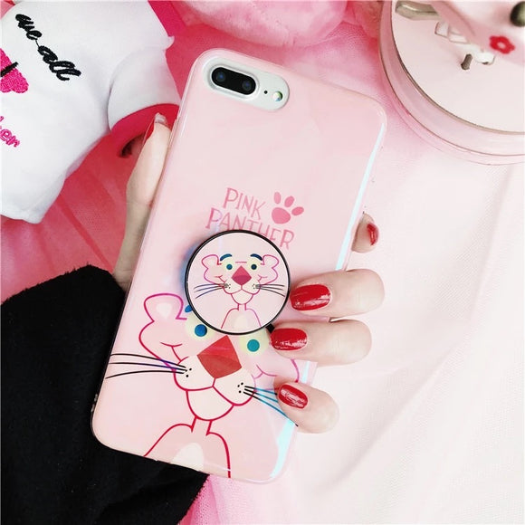 Baby Pink Panther Case with POP Grip - كفر مع مسكة دائرية