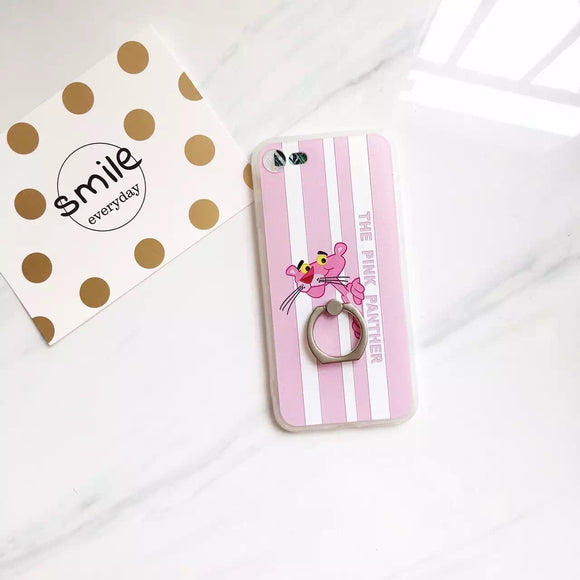 Pink Panther Stripes Case with Ring