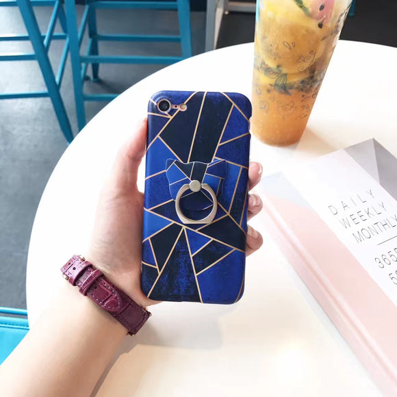 Dark - Light - Blue - Case With Ring
