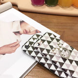 White Black Grey Three Triangle Case With Ring - كفر مع مسكة خاتم