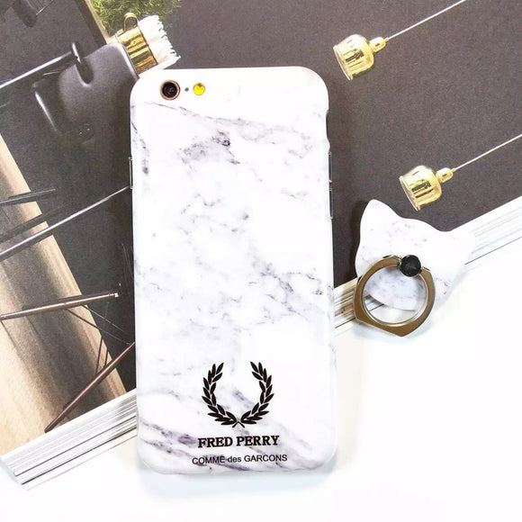 White Fred Perry Case With Ring