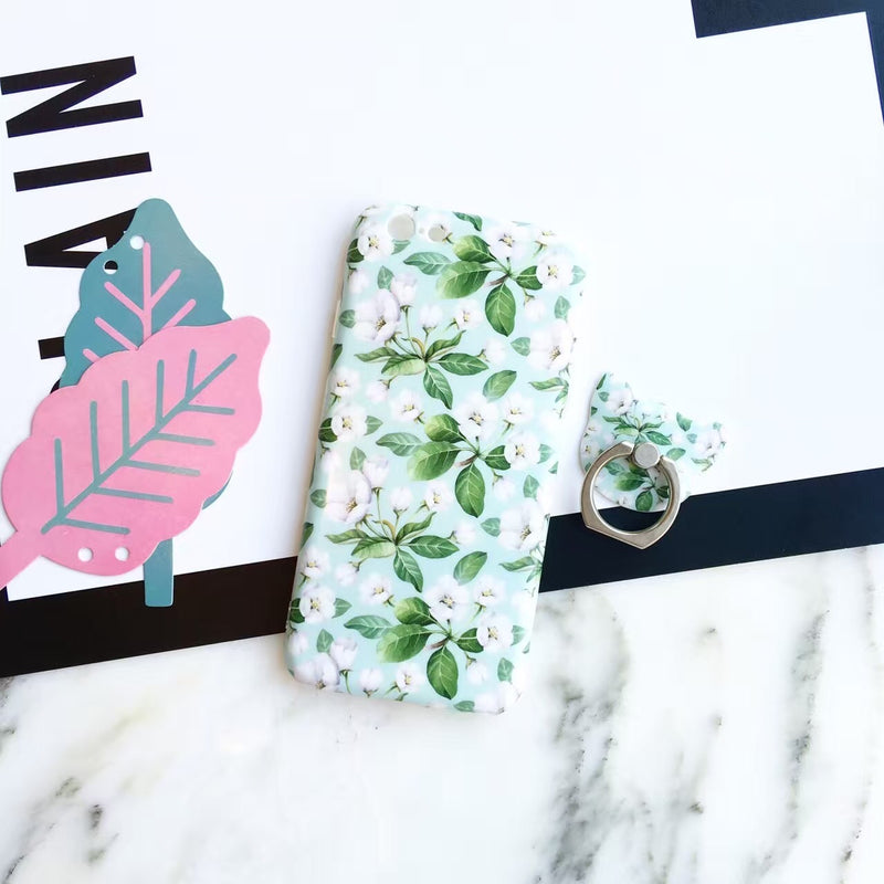 Mint Case Flowers - Without Ring - بدون مسكة خاتم