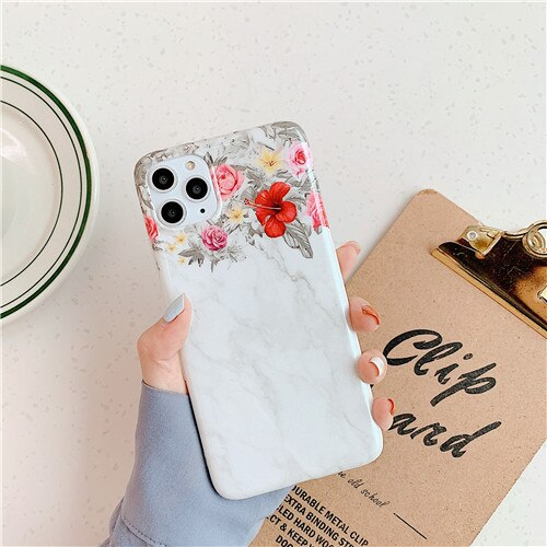 Light and Dark Grey Case with Flower