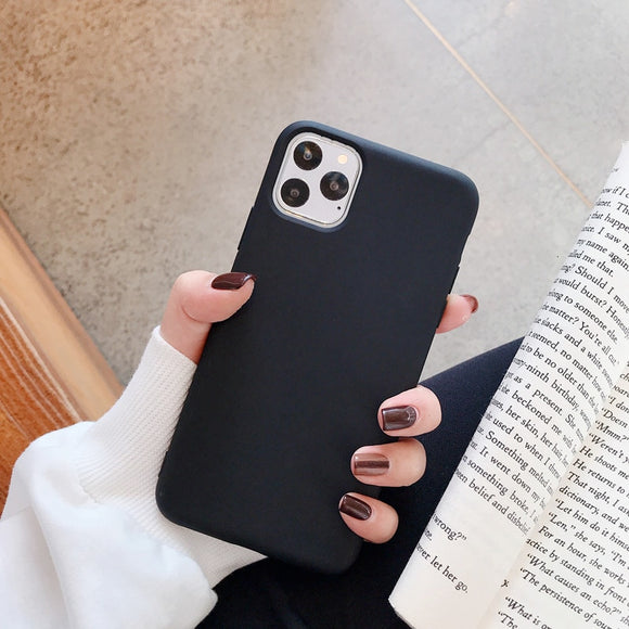Black Plain Soft Case