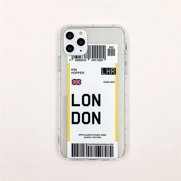 London City Bar-code Label Phone Case