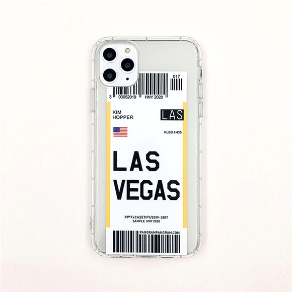 Las Vegas City Bar-code Label Phone Case