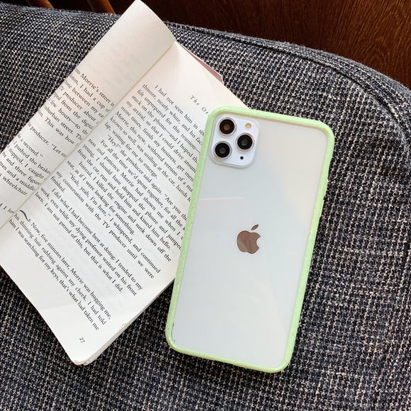 Light Green Border Clear Wave Case