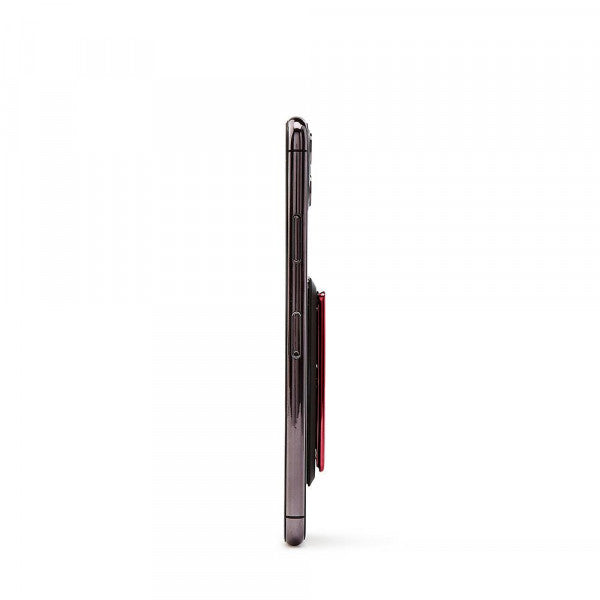 HANDL stick - Smooth Leather - Black and Red - مسكة وستاند رأسي وجانبي