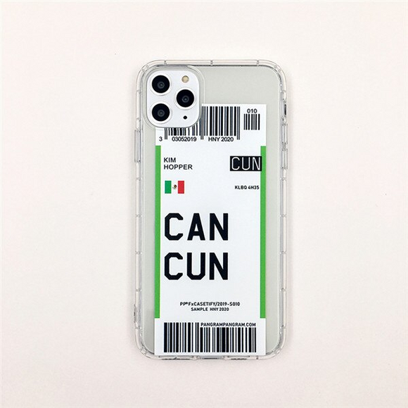 Cancun City Bar-code Label Phone Case