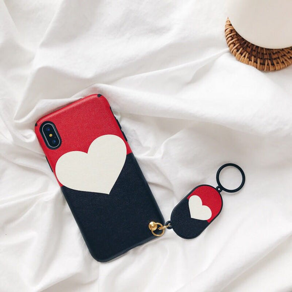 Red and Navy Case with White Heart