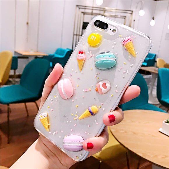 Glitter Clear Case with Seashell