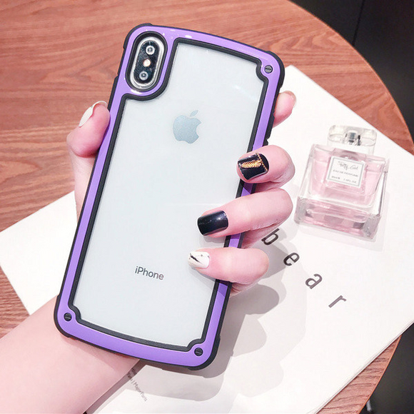Transparent Case with Purple Border