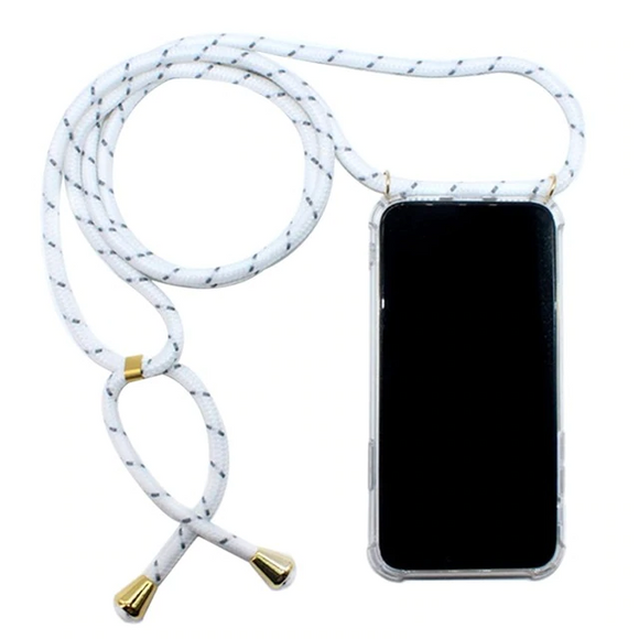 Clear Case with Lanyard - White