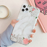 Light and Dark Grey Case with Grey Flower