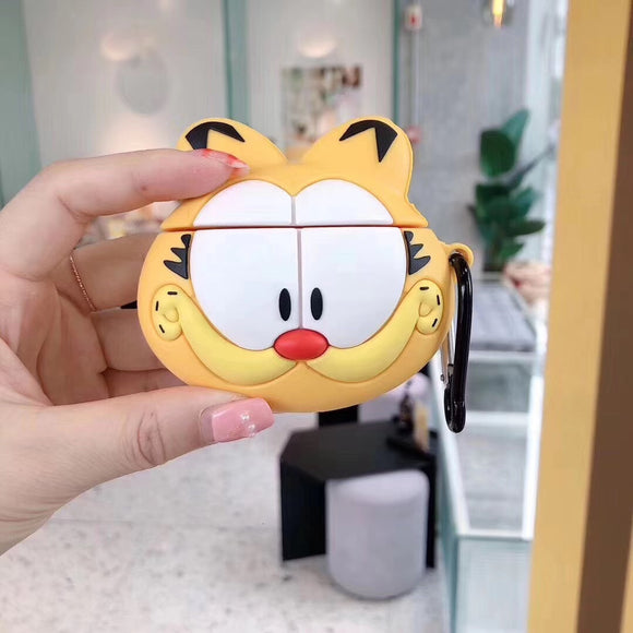 Yellow Teeth Big Face AirPods Case with Ring - كفر ايربودز