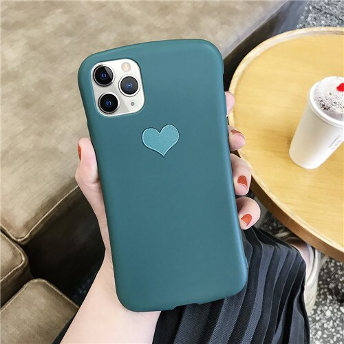 Green Love Heart Case