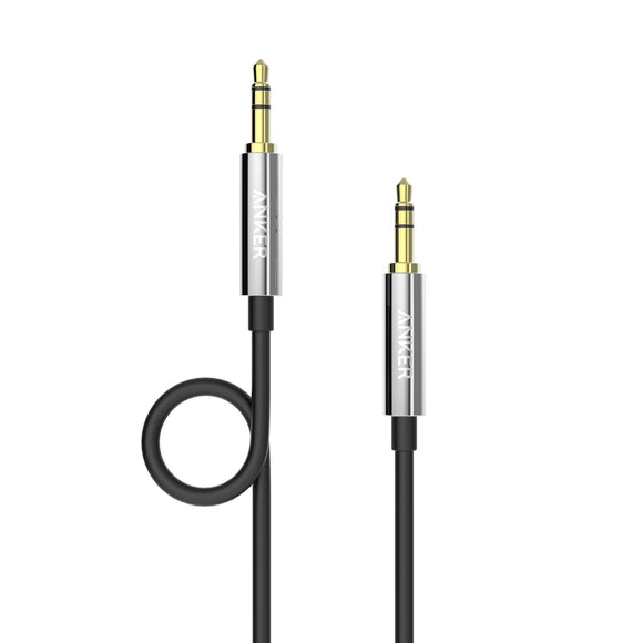 Anker Premium AUX Cable 1.2m Black [18 Month Warranty]