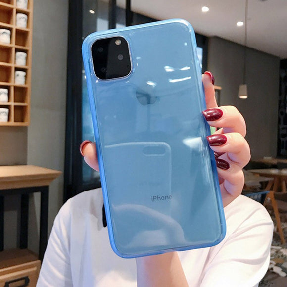 Blue Case with Protection Back Cover