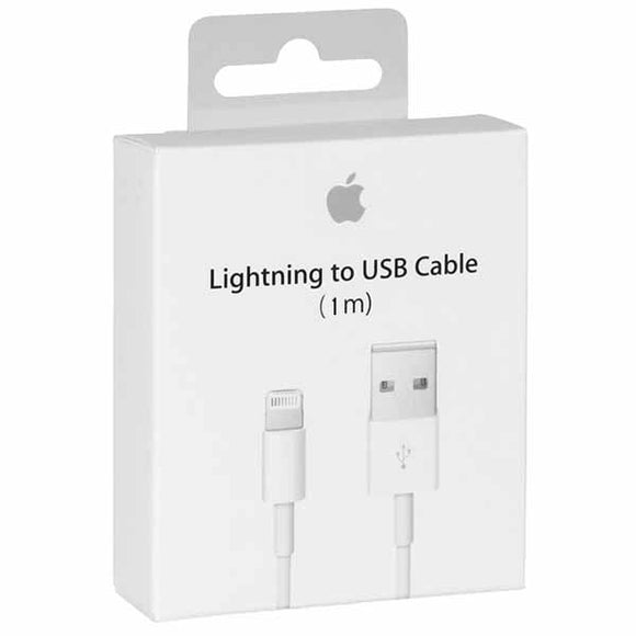 Apple Lightning to USB Cable (1M) - White - كيبل شحن ايفون - 1 متر