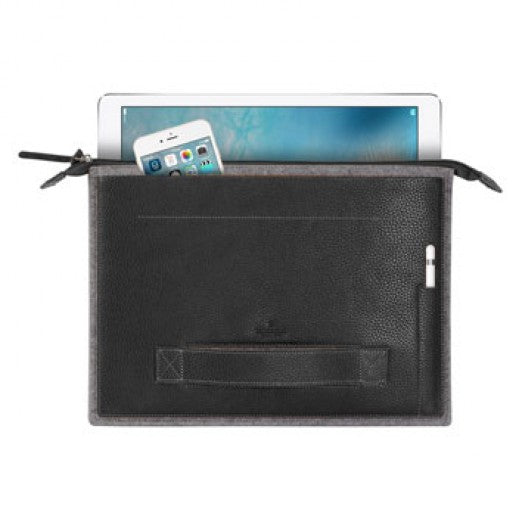 Patchworks Leather Sleeve Bag For iPad Pro/Laptop - Black