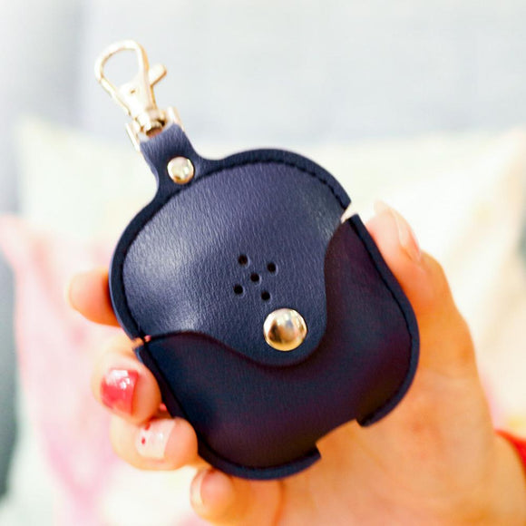 Dark Blue Leather AirPod Case - كحلي