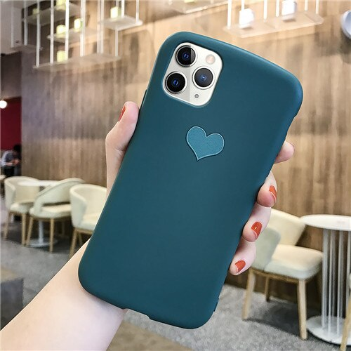 Dark Green Love Heart Case