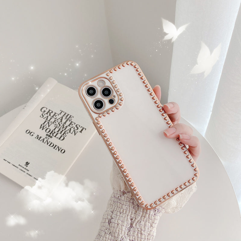 White Small 3D Love Hearts Case