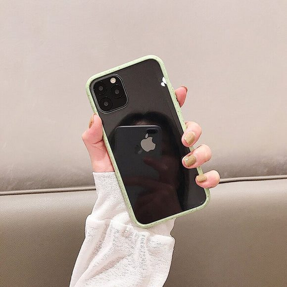 Dark Green Border Clear Wave Case