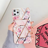 New Geometric Flower Marble Case