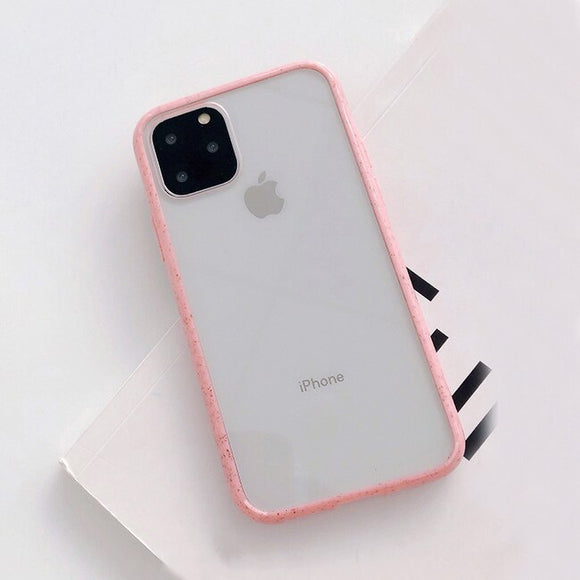 Pink Border Clear Case